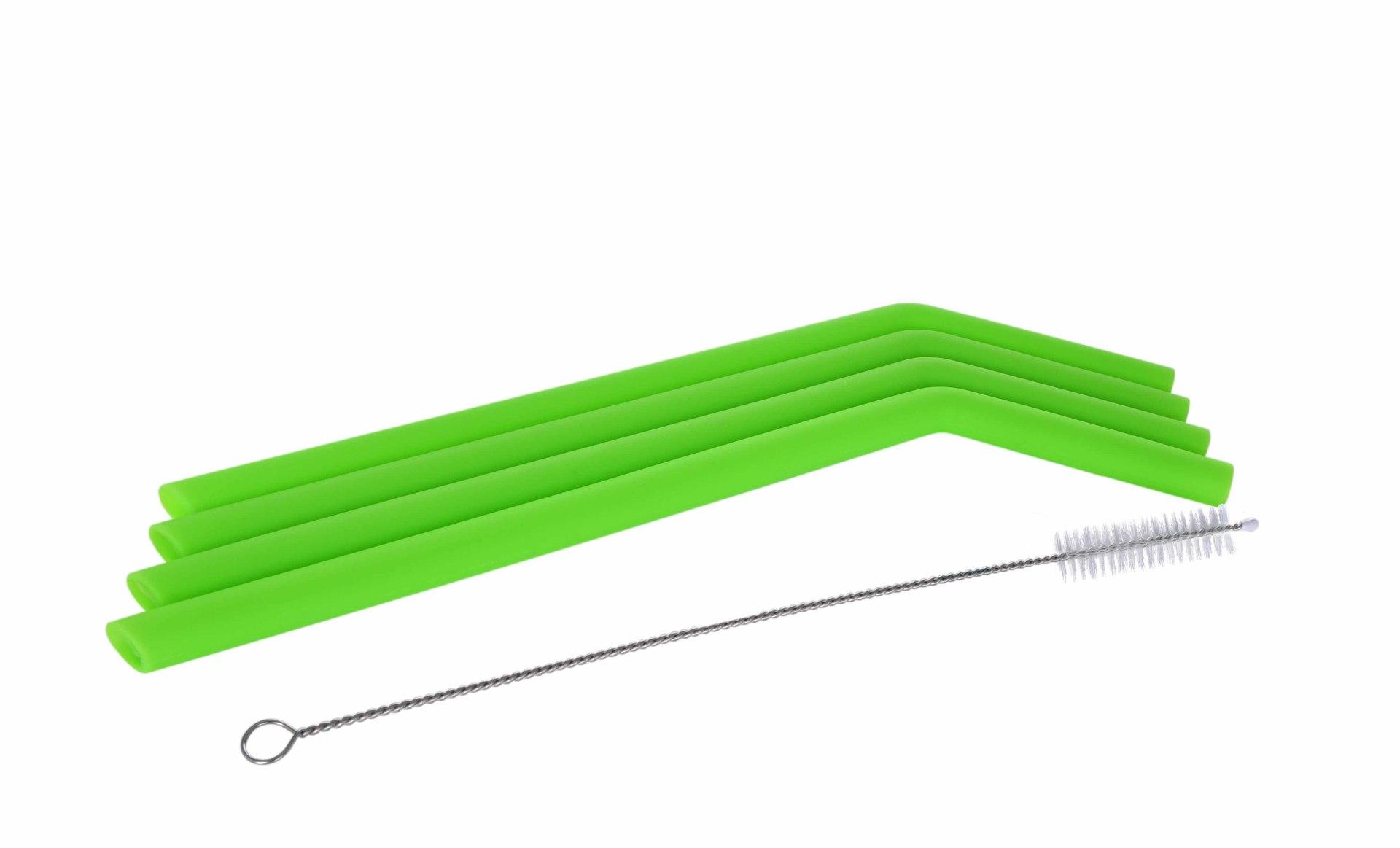 4 ks EKOSLÁMKY 26 cm celoživotní, silikonové, s kartáčkem, průměr 1 cm, GoEco®