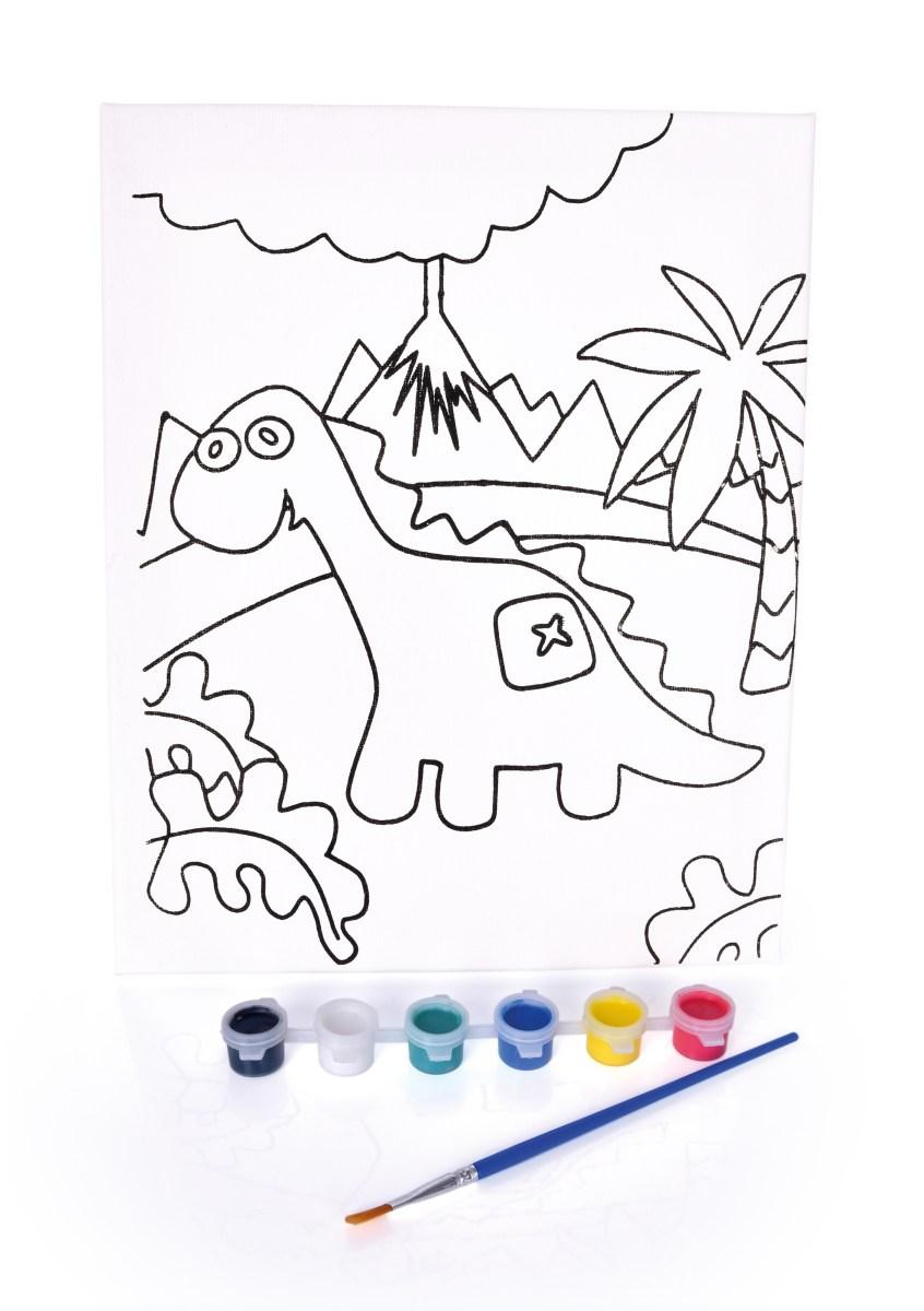 """Obrázek """"vymaluj si sám"""" brontosaurus"""