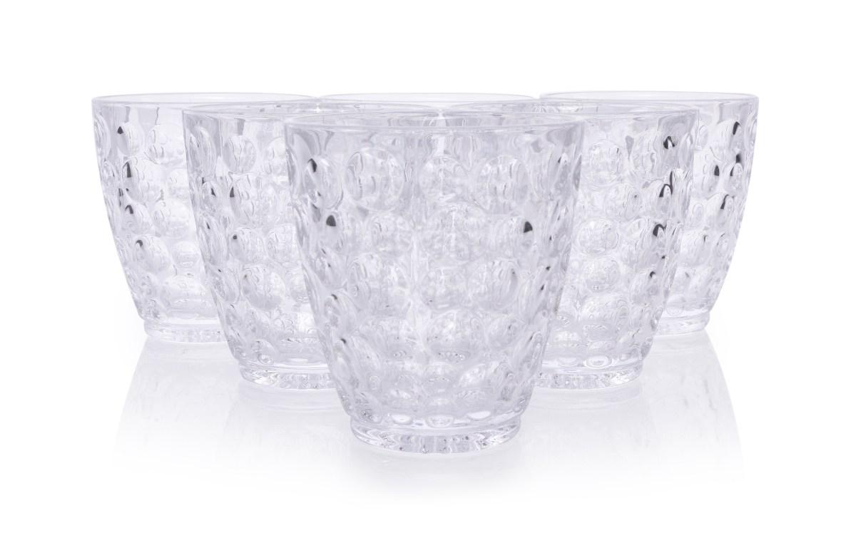 6 ks sada sklenice BUBBLE objem 250 ml výška 9,3 cm