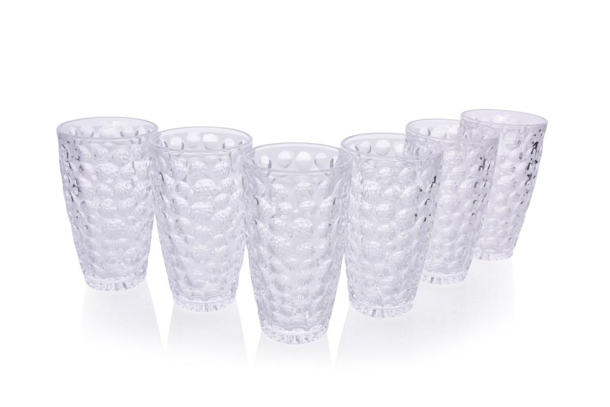 6 ks sada sklenice BUBBLE objem 300 ml výška 13,8 cm
