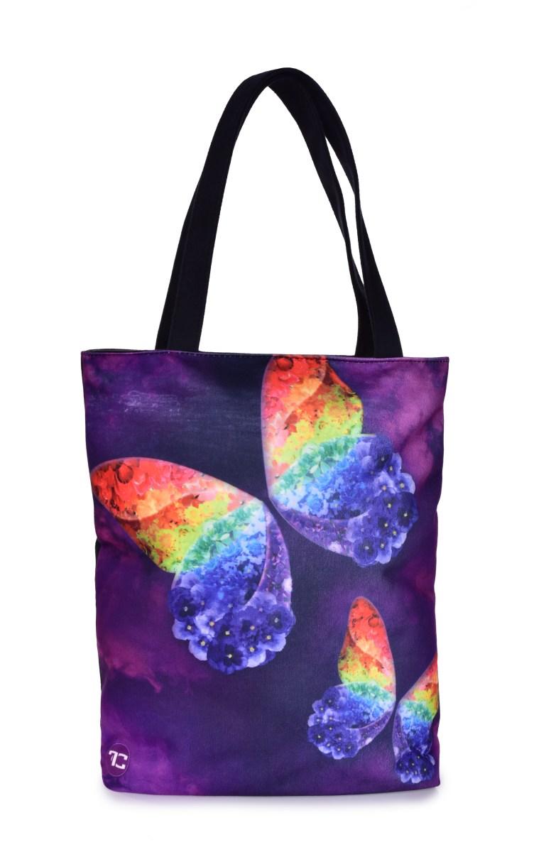 FC ELEGANT textilní kabelka/taška fialová