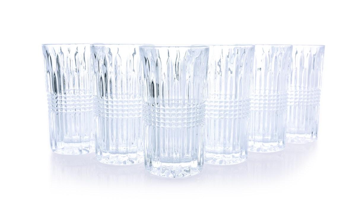 6 ks sada sklenice CRYSTAL  výška 13,7 cm