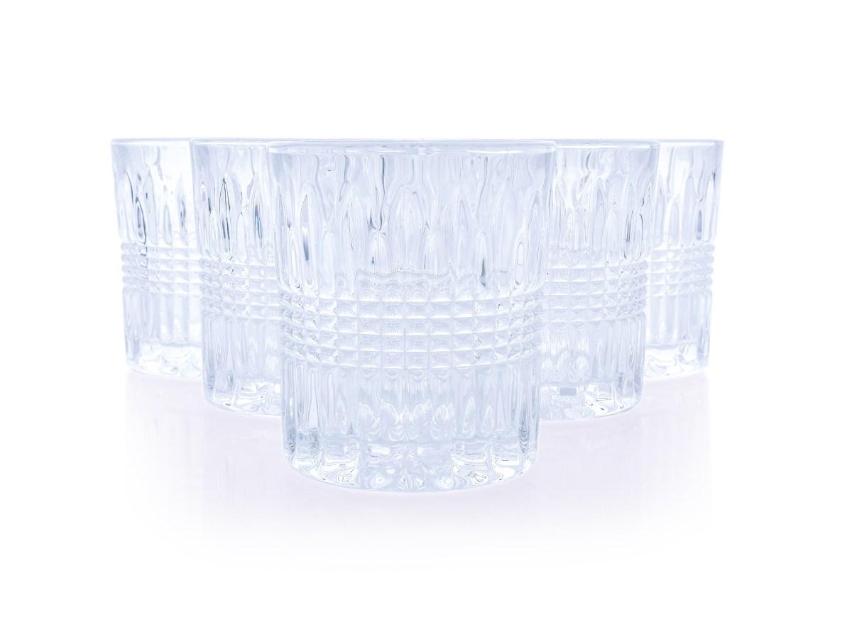 6 ks sada sklenice CRYSTAL  výška 9,3 cm