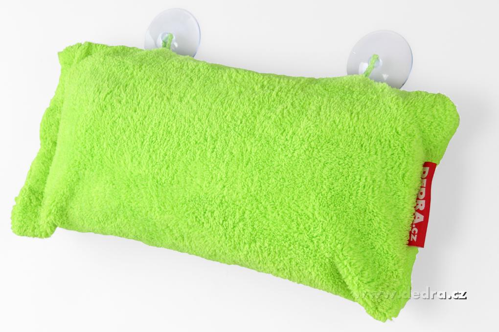Polštář do vany z hebkého mikrovlákna nafukovací+přísavky