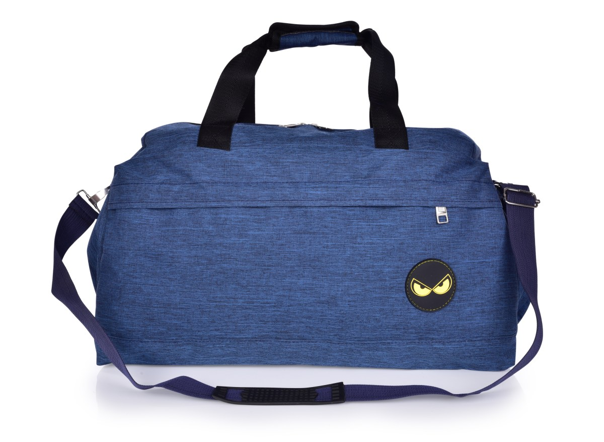 REBELITO® SPORT & WEEKENDER sportovní taška z textilie modrá melange