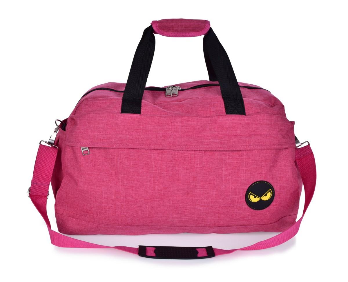 REBELITO® SPORT & WEEKENDER sportovní taška z textilie růžová melange