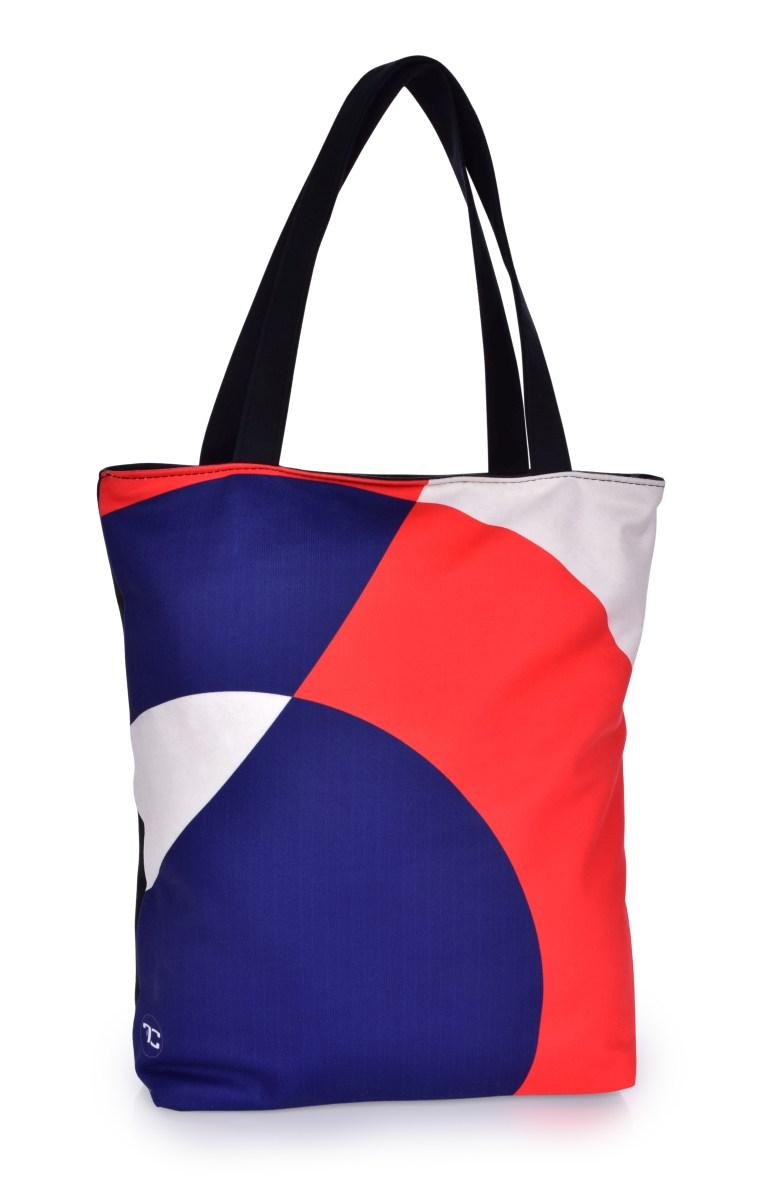 FC ELEGANT TRICOLORE textilní kabelka/taška s uzavíráním na zip