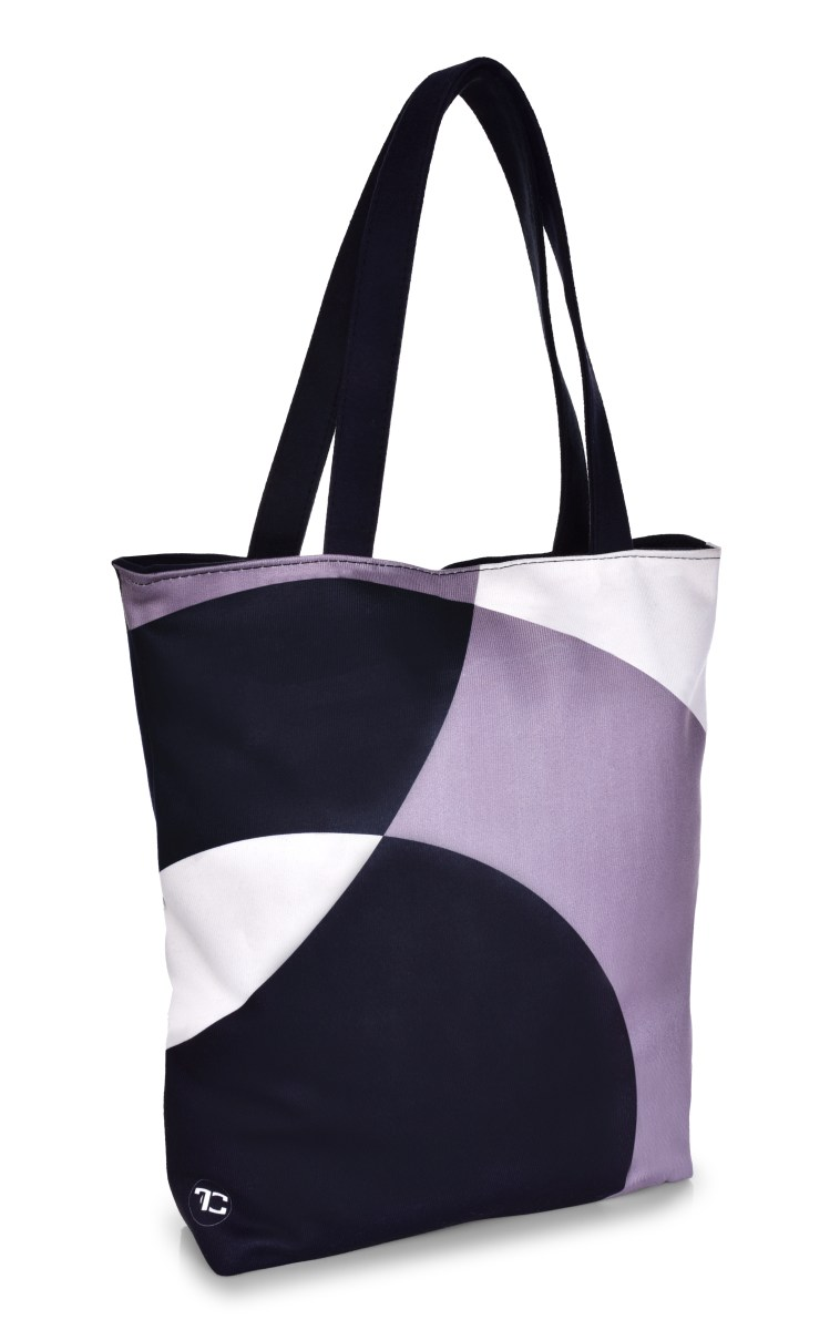 FC ELEGANT BLACK&WHITE textilní kabelka/taška, s uzavíráním na zip