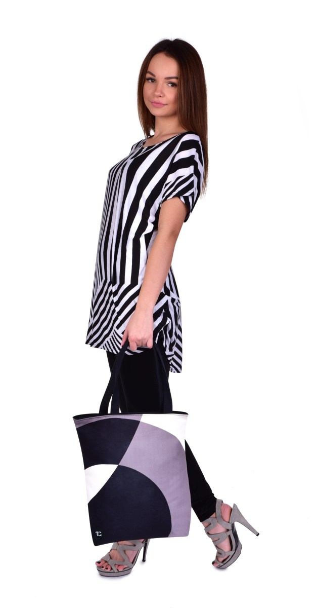 a124afe065 ... FC24683-FC ELEGANT BLACK   WHITE textilná kabelka   taška