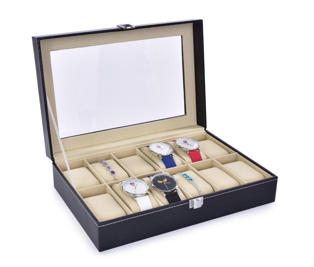 Luxusní kazeta na uložení hodinek i náramků