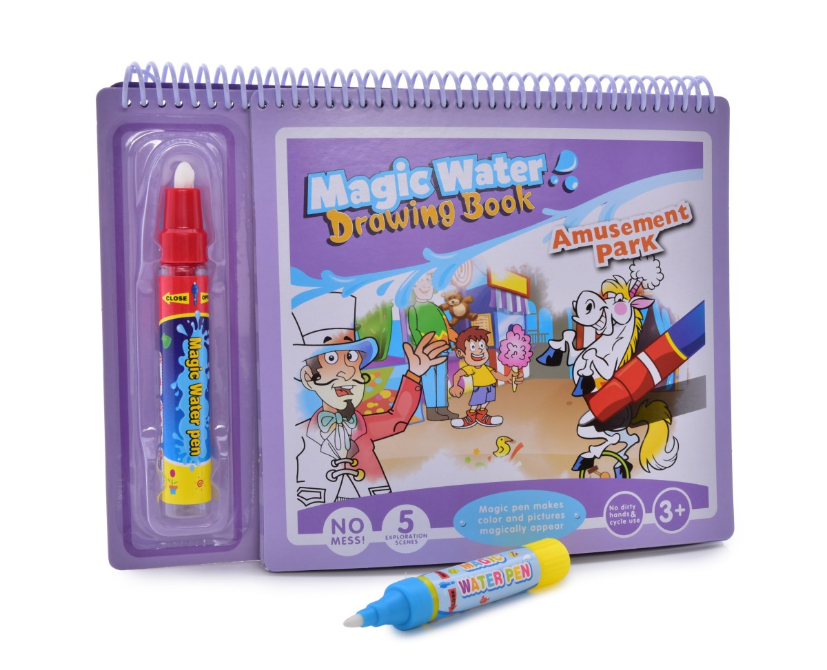 ZÁBAVNÍ PARK, kouzelná kreslící vodní knížka