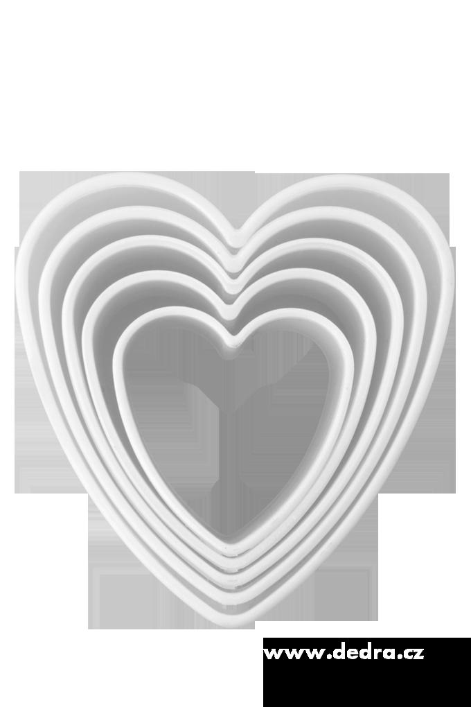 Srdíčka 5ks vykrajovátka tvrzený plast