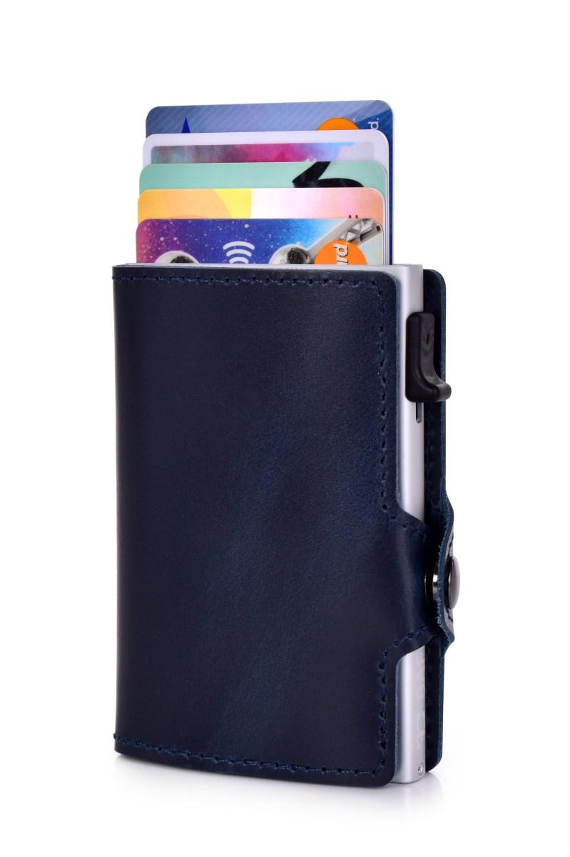 FC SAFE kožená peněženka pro ochranu platebních karet  marine silver