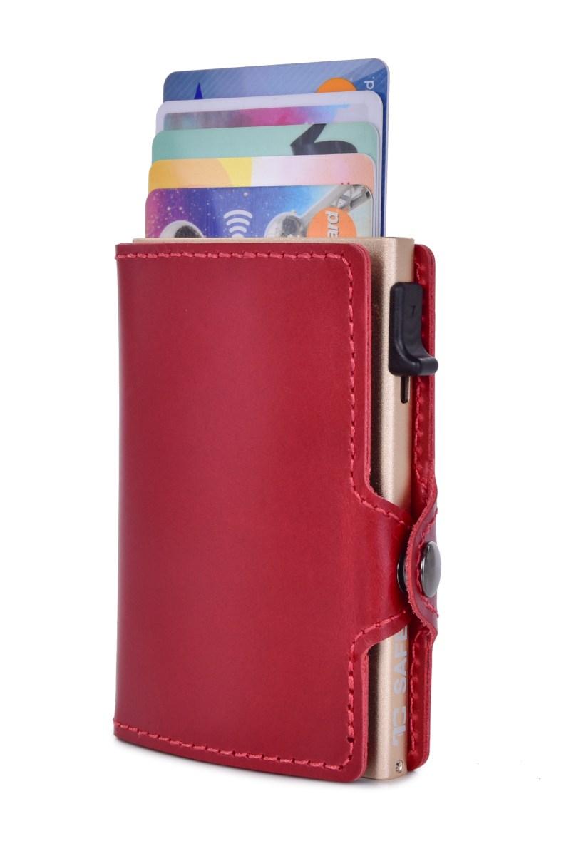 FC SAFE kožená peněženka pro ochranu platebních karet  bordeaux gold