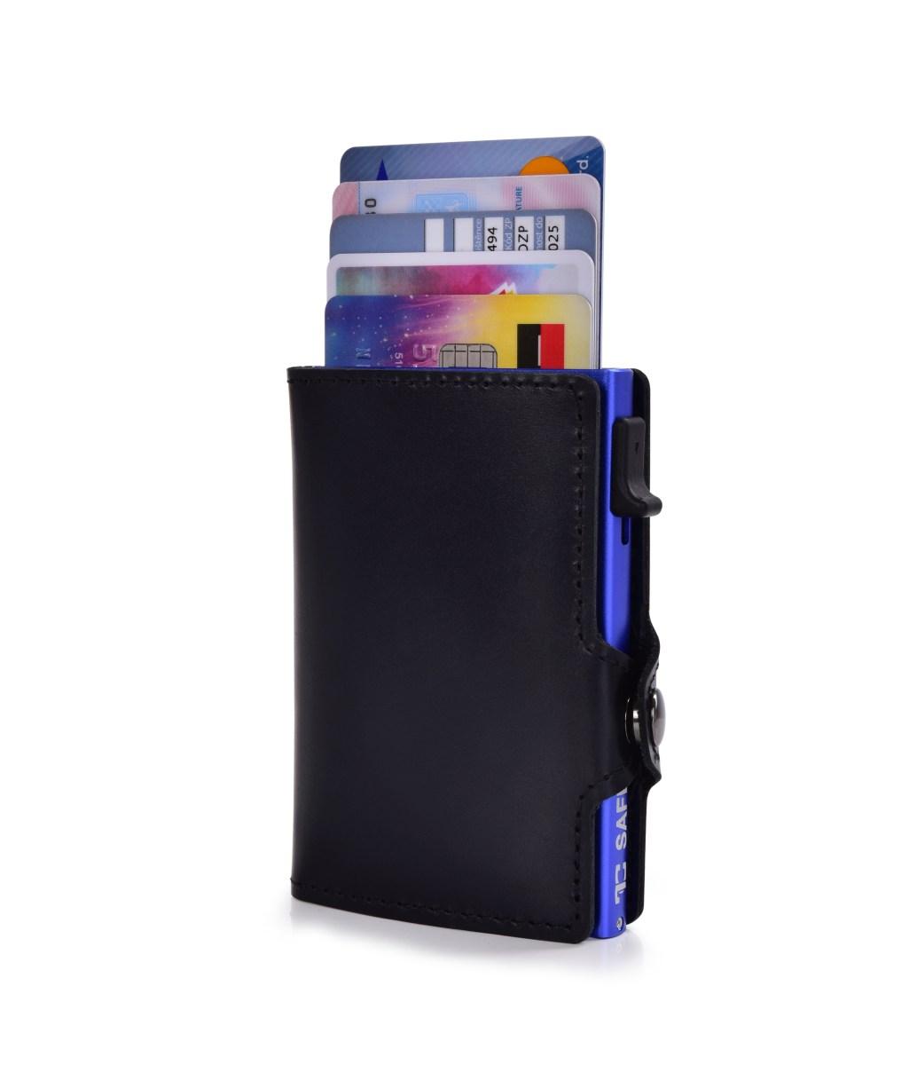 FC SAFE kožená peněženka pro ochranu platebních karet  black blue