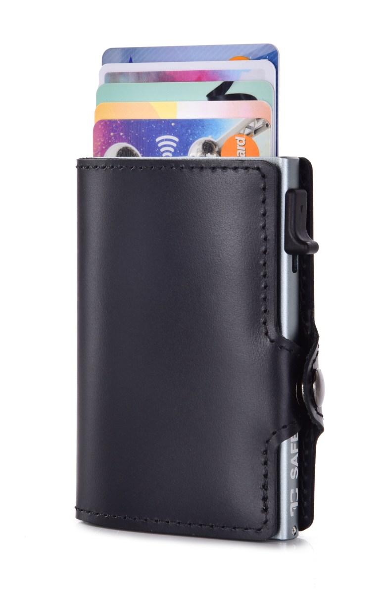 FC SAFE kožená peněženka pro ochranu platebních karet  black grey