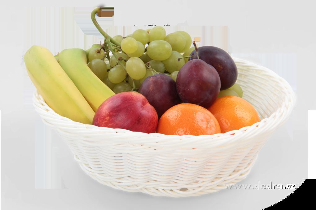 Plastová ošatka na pečivo,ovoce,... pr.:26 cm,v.:7,5 cm