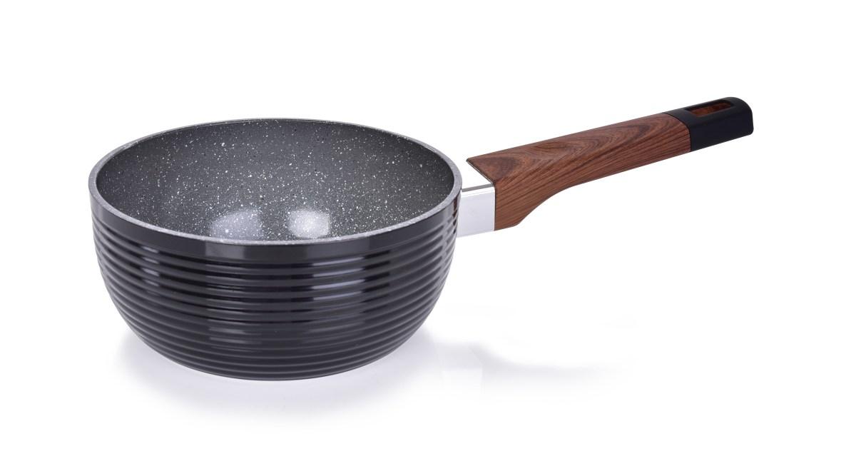 Rendlík Ø 16 cm BIOPAN® WOODOO, s rukojetí soft touch v imitaci dřeva