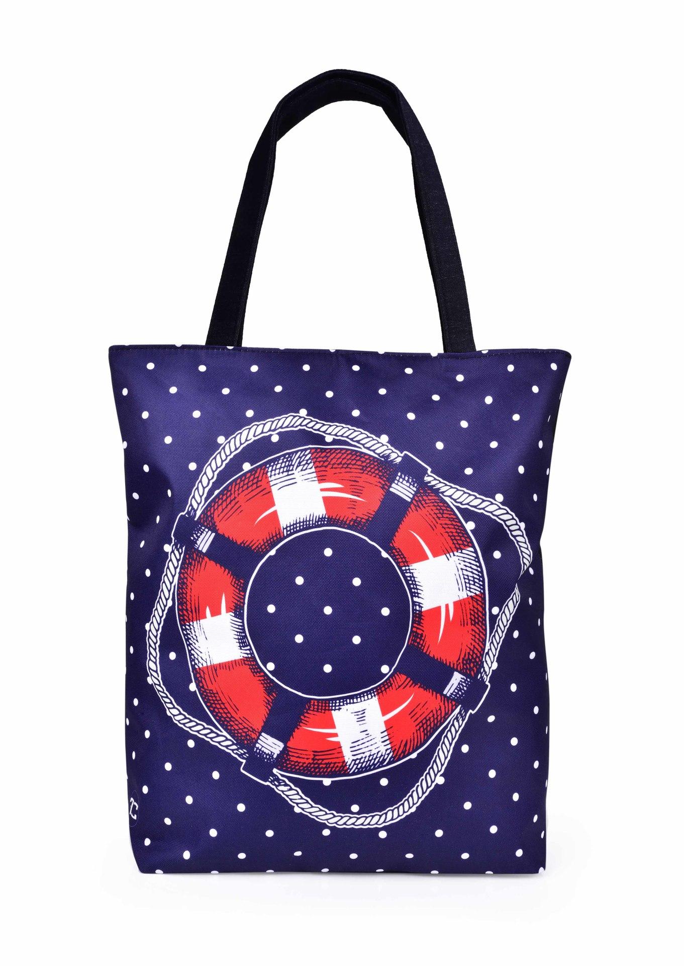 Textilná kabelka / taška FC ELEGANT MARINE KRUH, s uzatváraním na zips