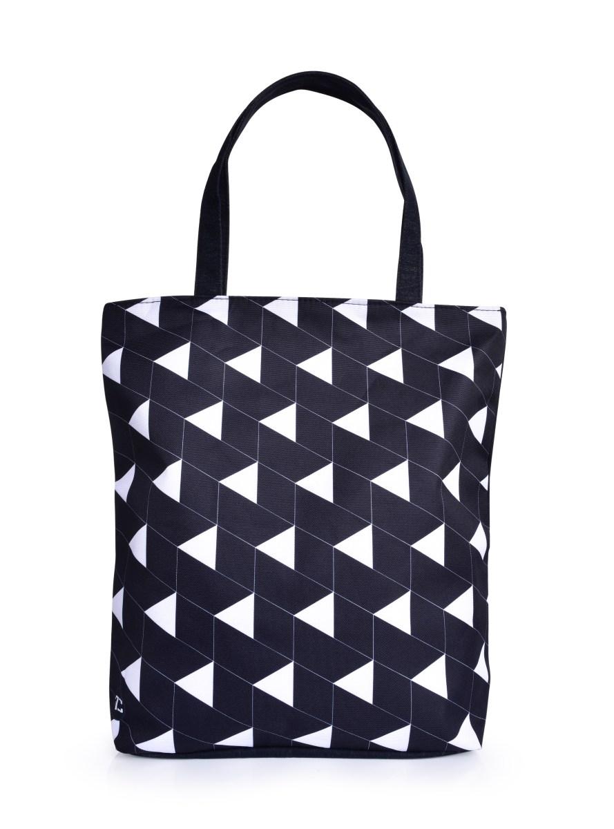 Textilní kabelka/taška FC ELEGANT BLACKk&WHITE  s uzavíráním na zip