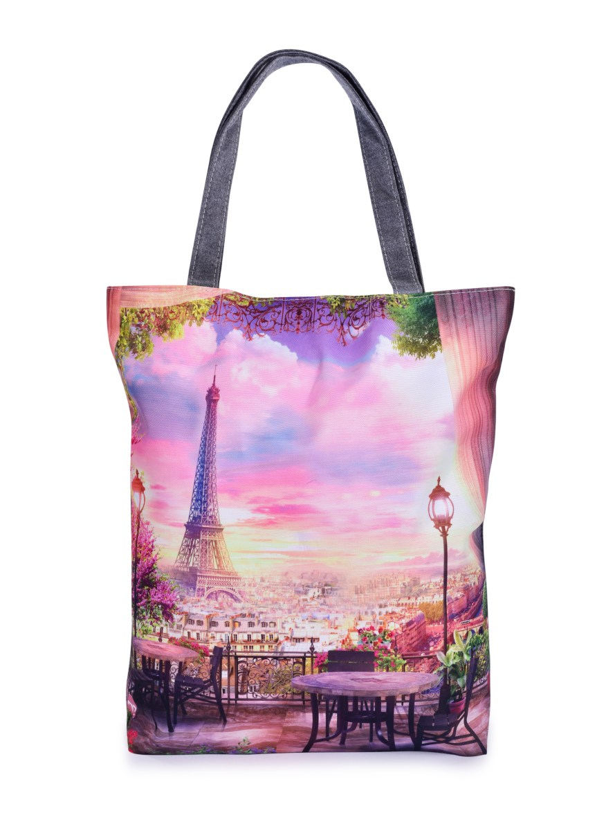 Textilní kabelka/taška FC ELEGANT PARIS, s uzavíráním na zip