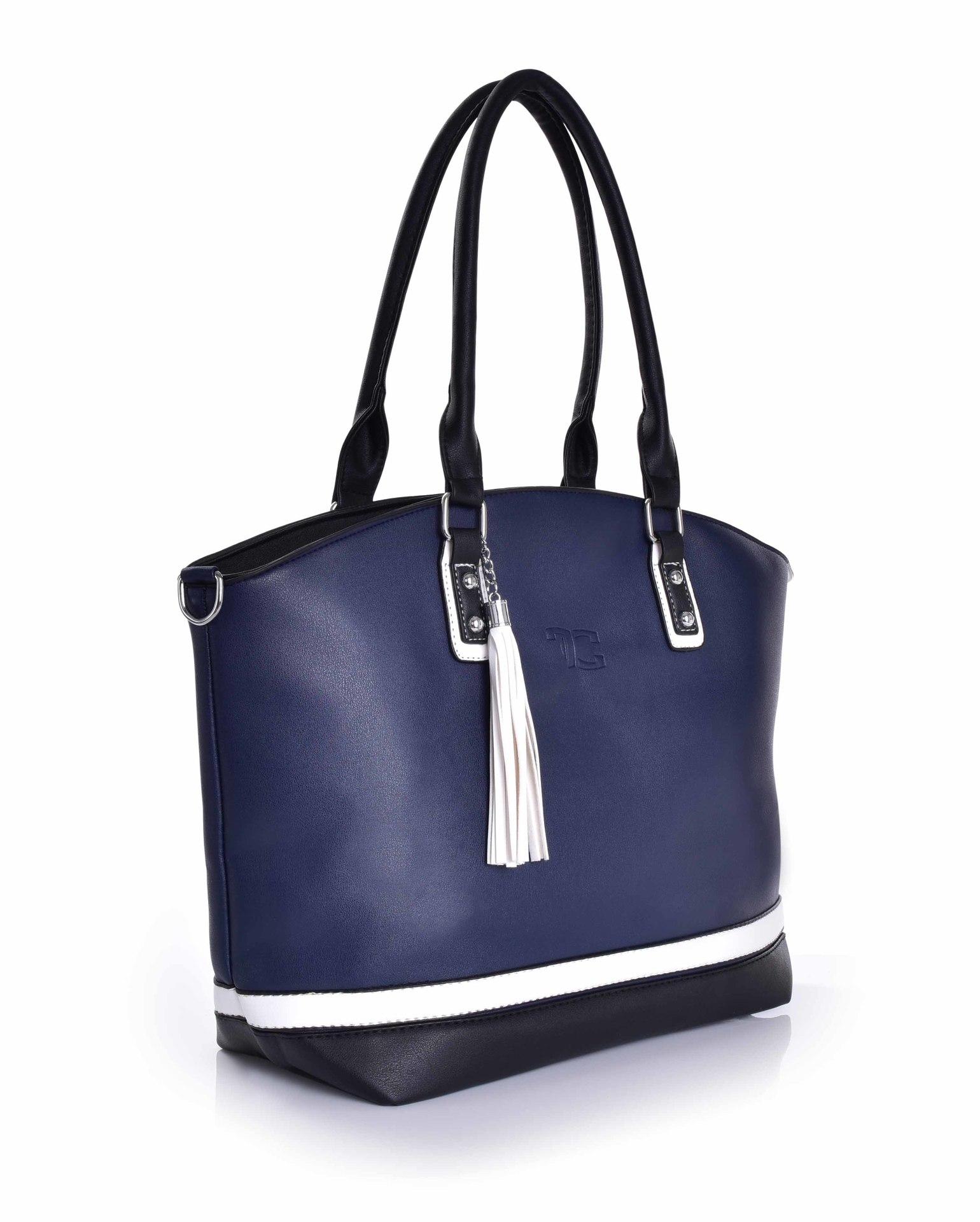 TRINITY kabelka z ekokože - modrá
