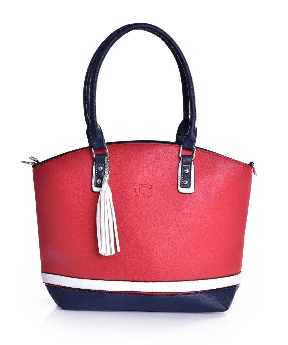 TRINITY kabelka z ekokože - červená