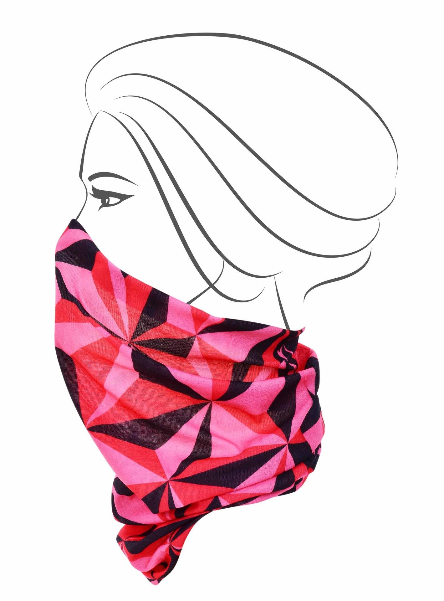 Multifunkční šátek, růžové origami