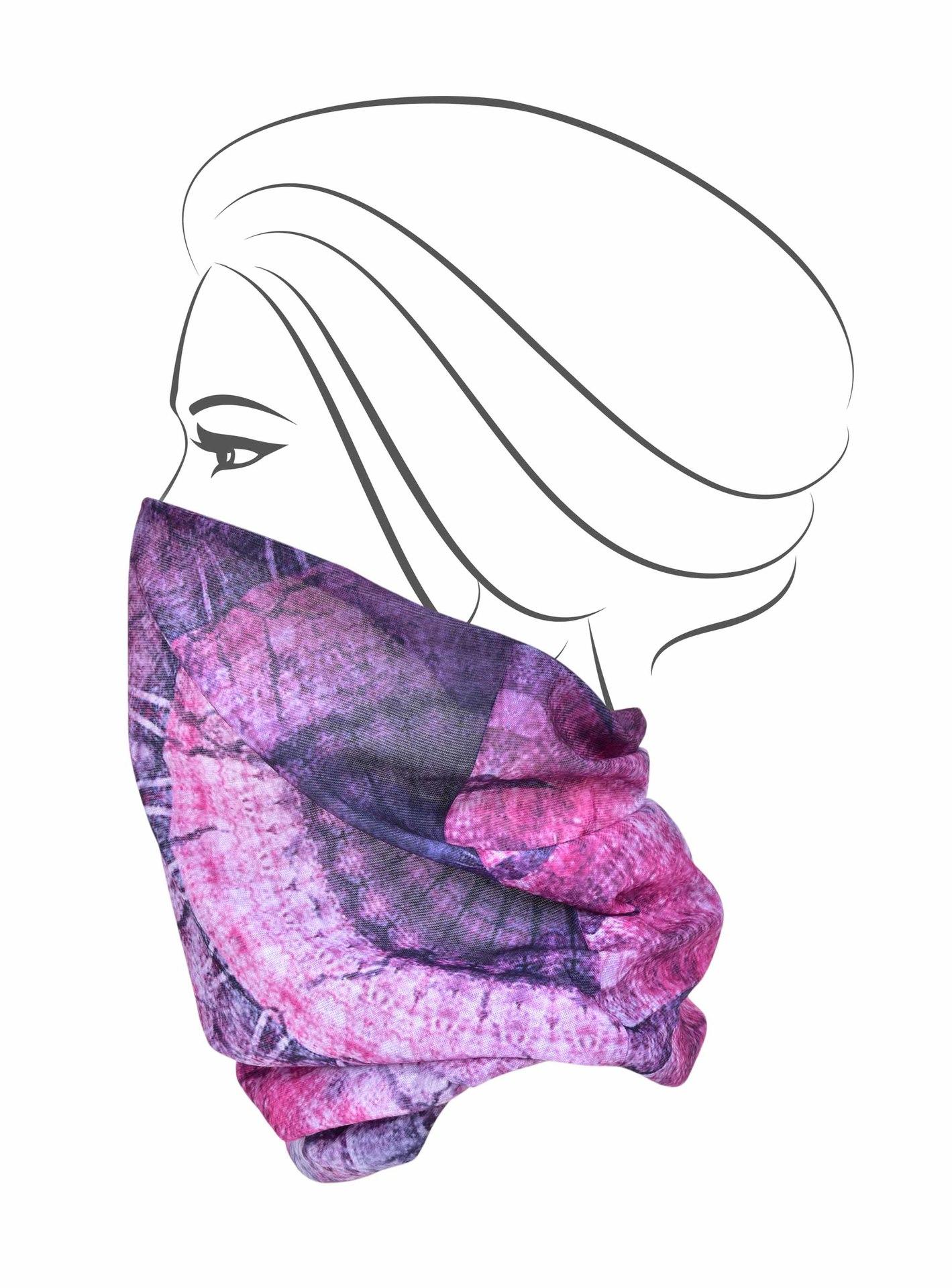 Multifunkční šátek, orient fuchsiový