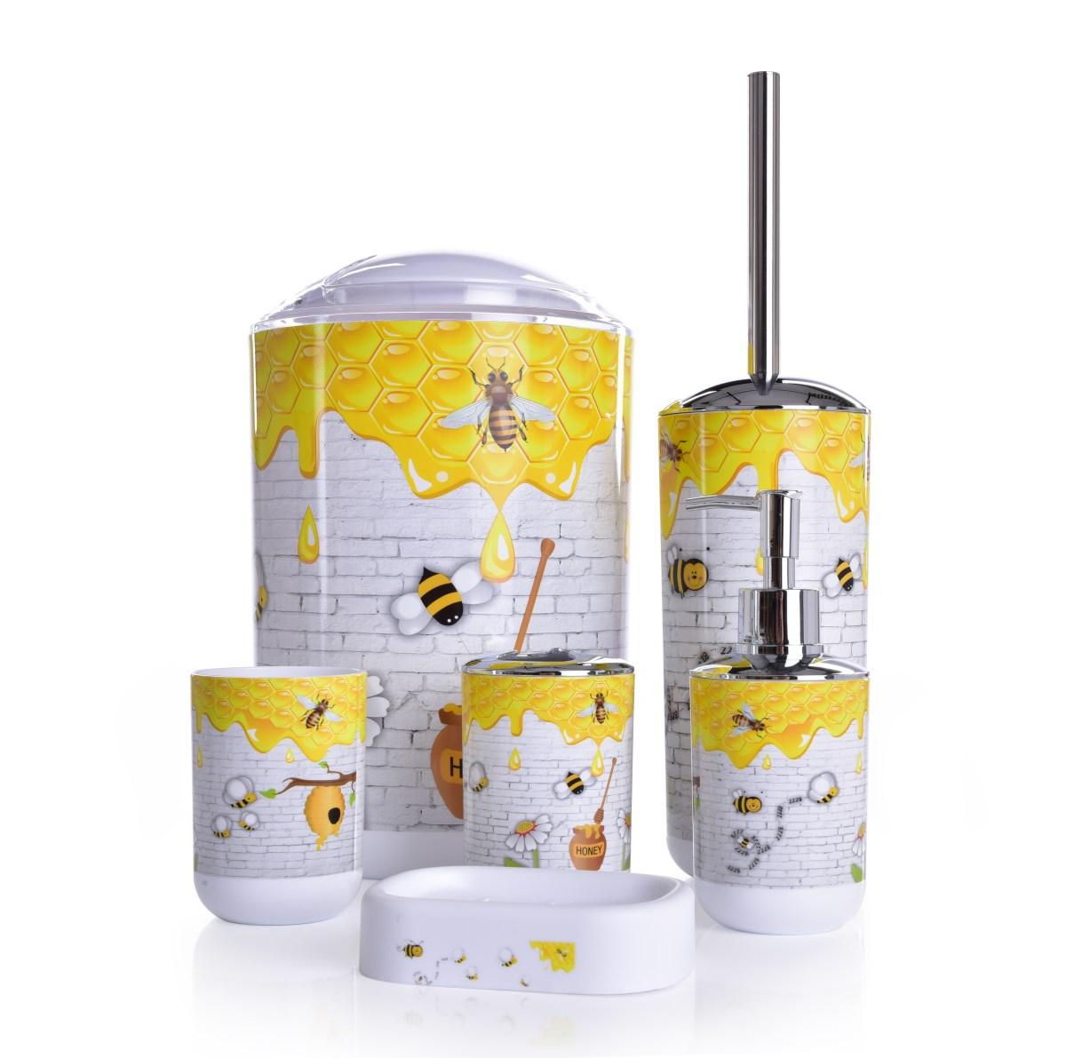 6 dílný koupelnový set se včelkami, HONEY BEE