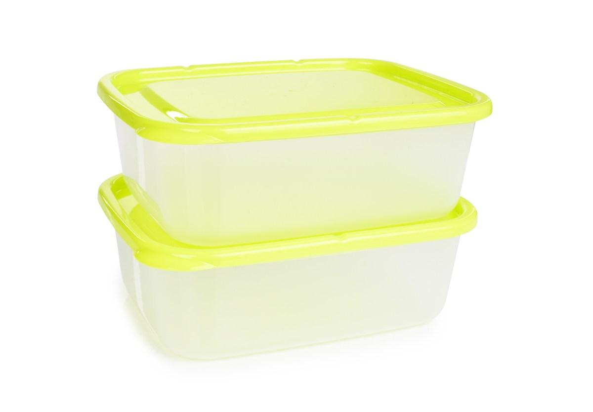 Dóza na potraviny GREENBOX 1300 ml, z odolného plastu 2 ks