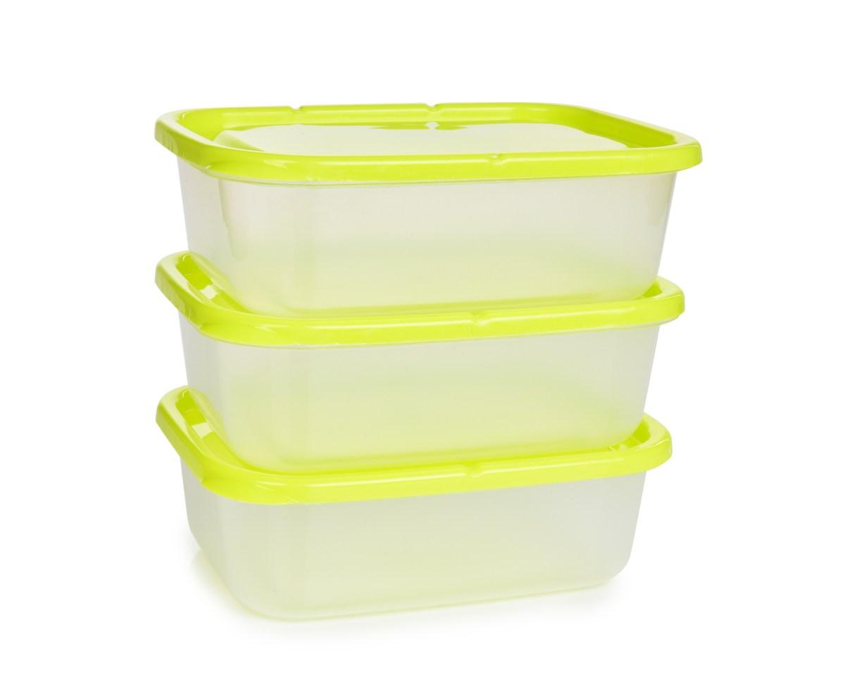 3 ks dóza na potraviny GREENBOX 650 ml, z odolného plastu