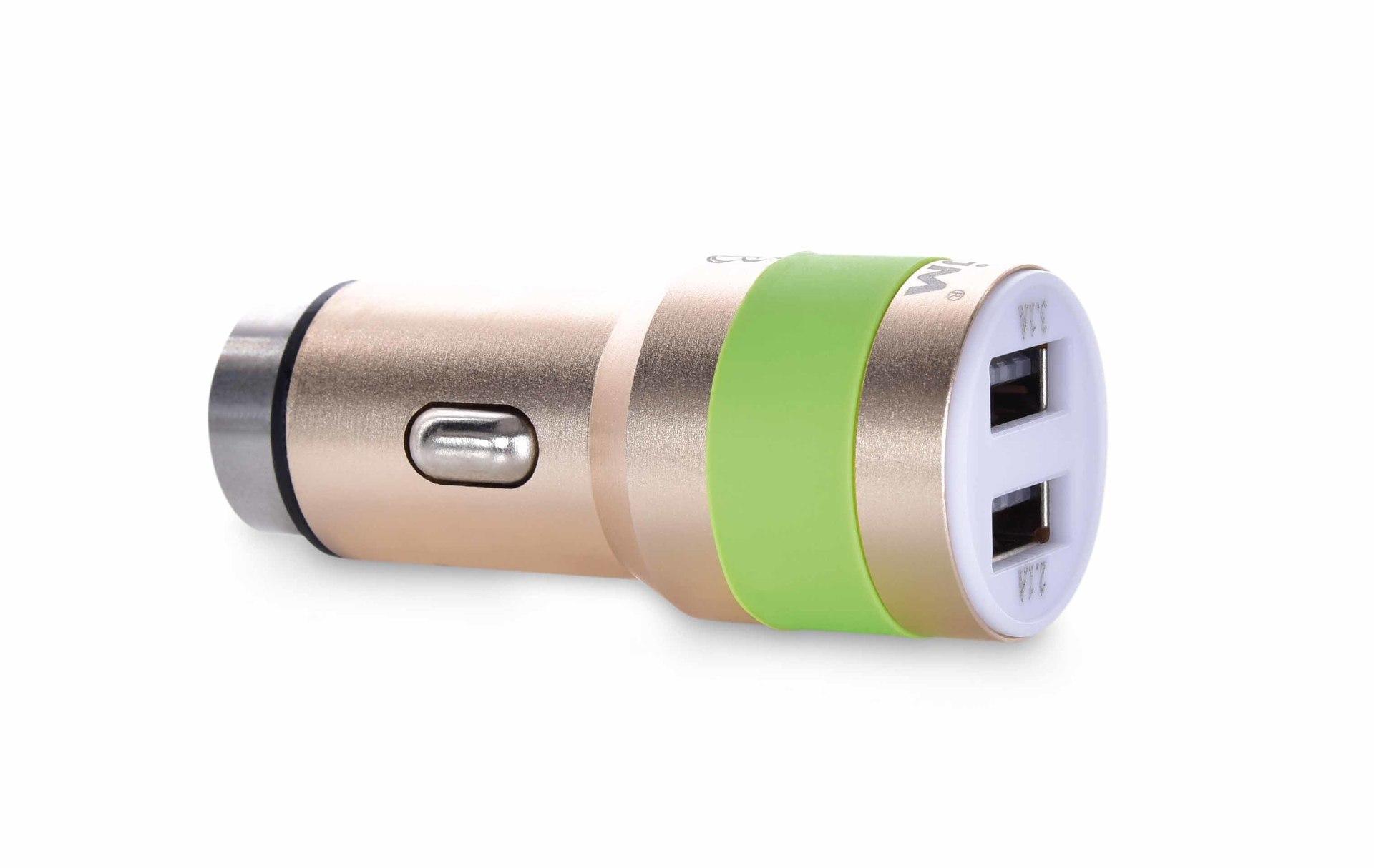 DA248512-2 x USB nabíjací adaptér do auta s bezpečnostným hrotom