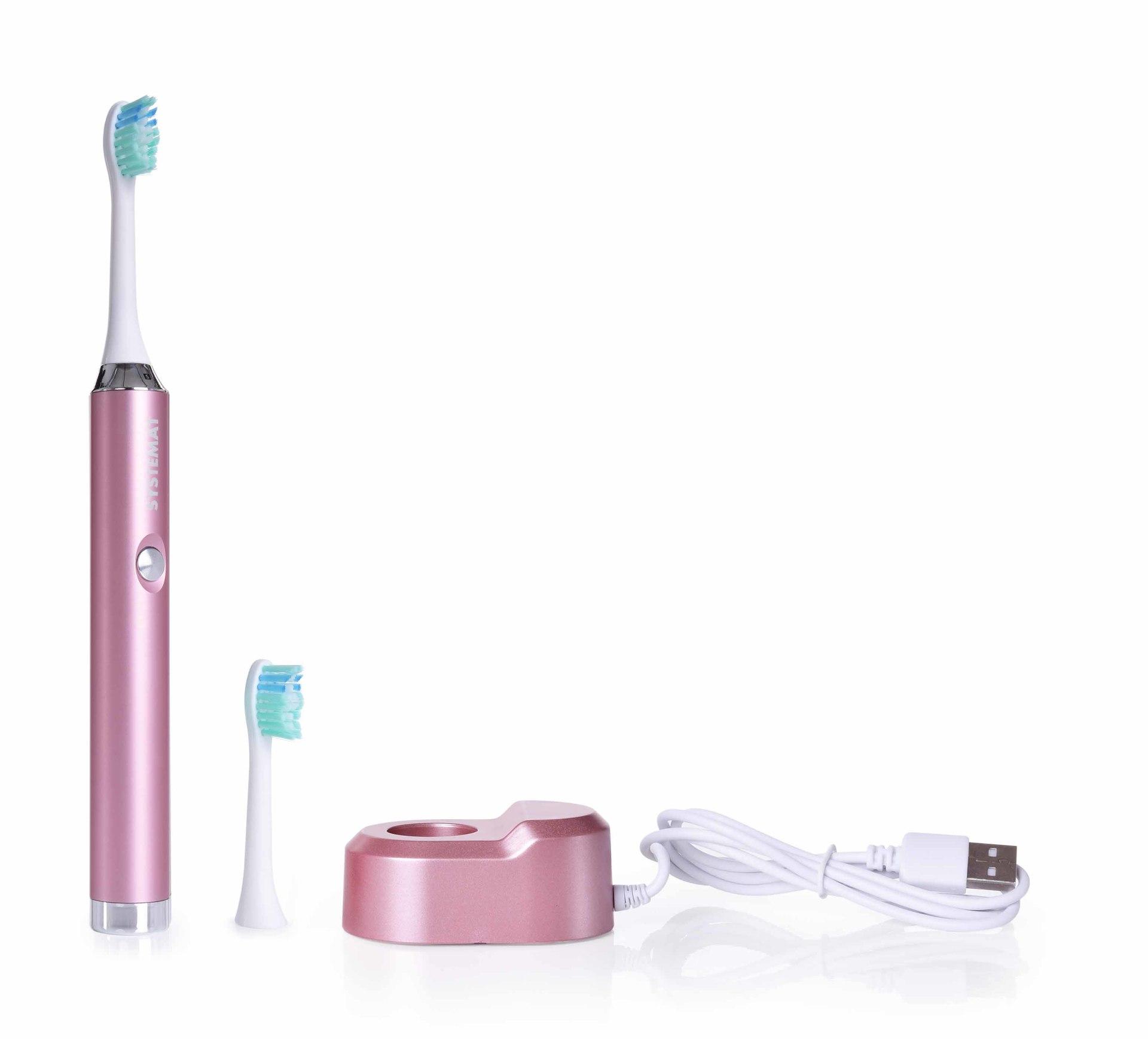 Sonický extra jemný kartáček na zuby, celokovový, metalic pink, SONISSIMO DEDRA DENT