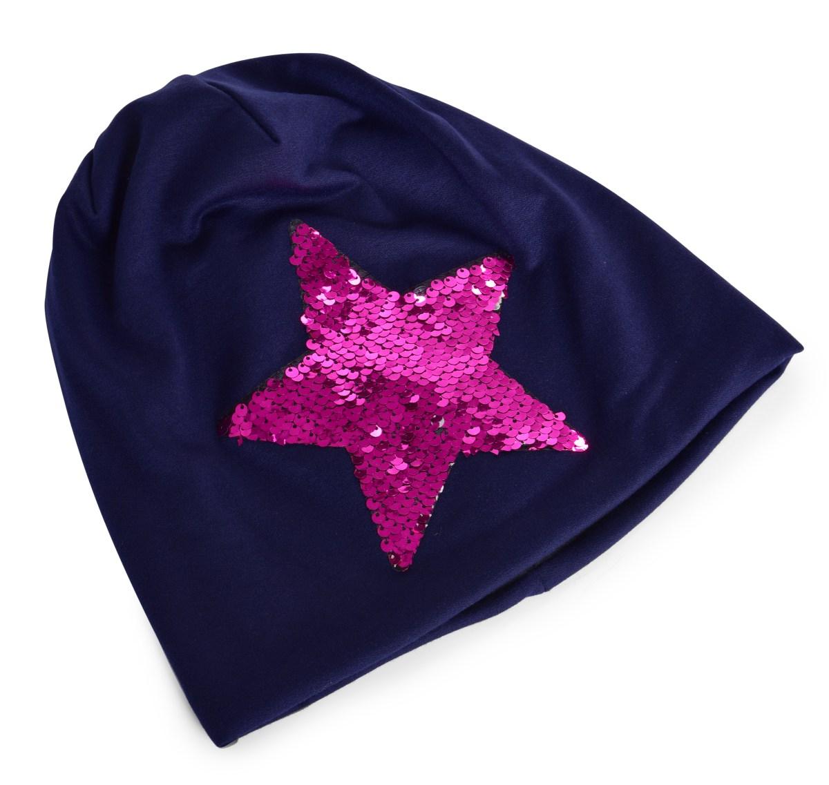 STAR 2v1 čepice s dvoubarevnou pajetkovou hvězdou