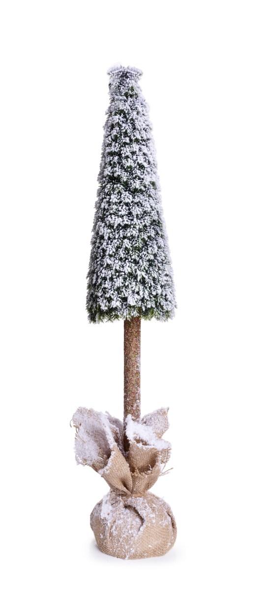 97 cm Zasněžený stromek na dřevěném kmínku, stojící dekorace