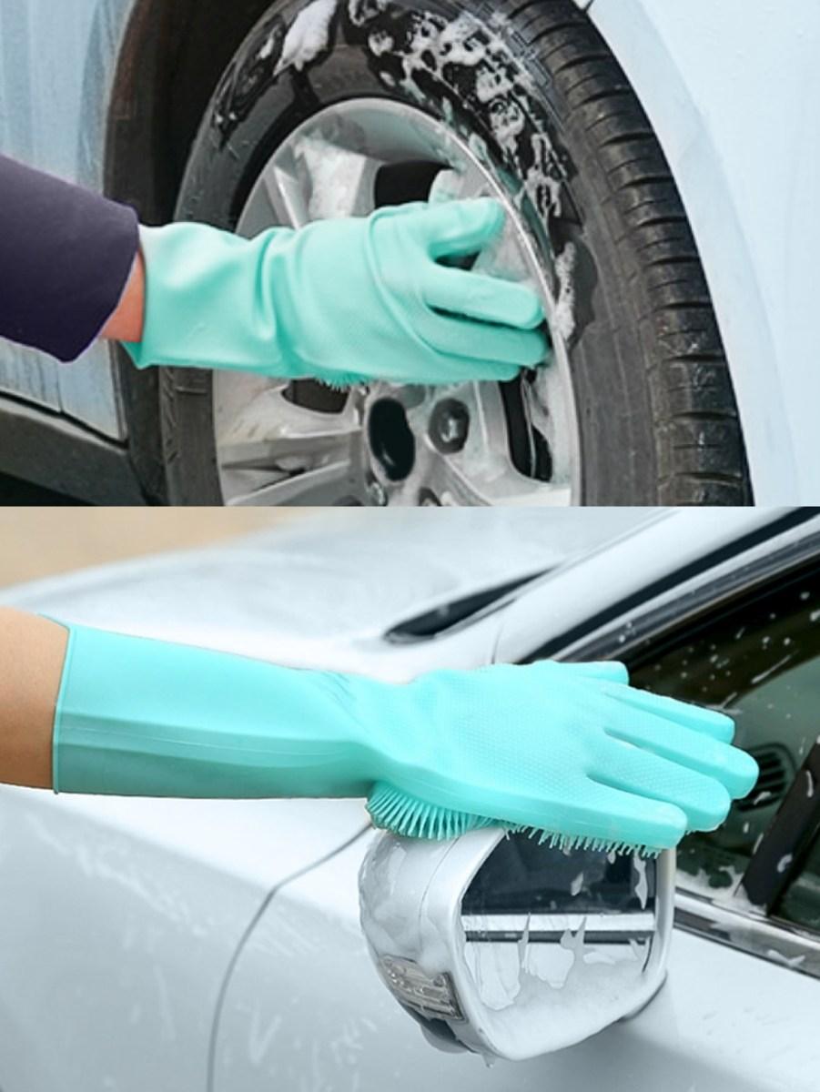 2 KS SILISASANKA, silikonová rukavice, na mytí a tepování povrchů
