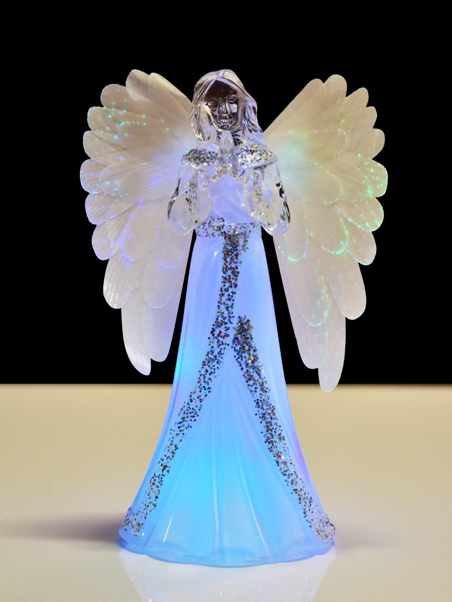 Svítící anděl s LED osvětlením