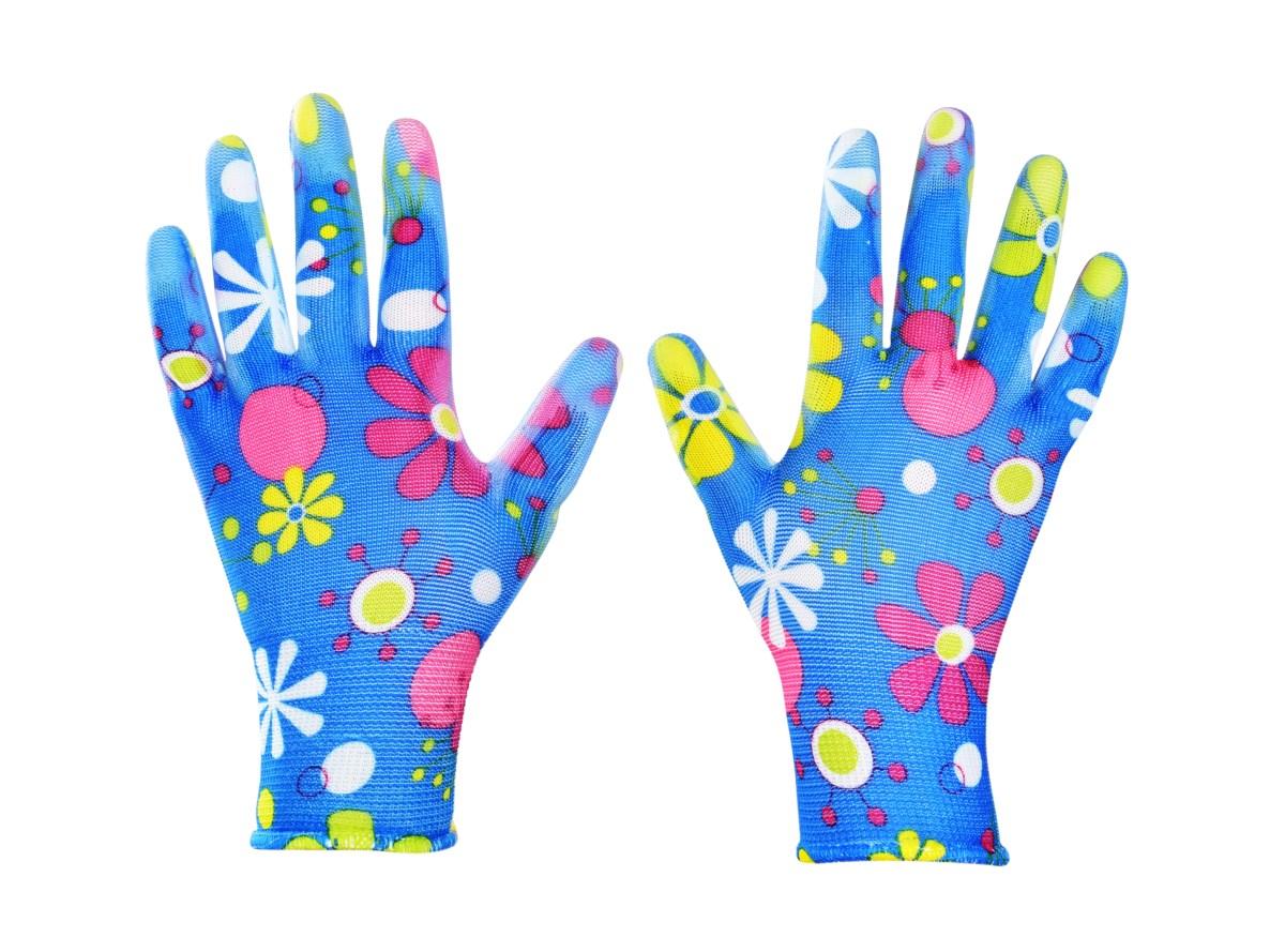 LEJDYVICE, dámské pracovní rukavice s pogumovaným povrchem