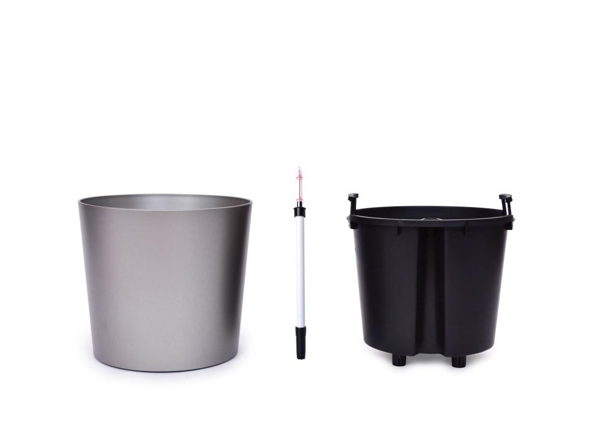 37 cm samonawadniaj±ca XL doniczka AQUARIUS platynowy metaliczny lakier