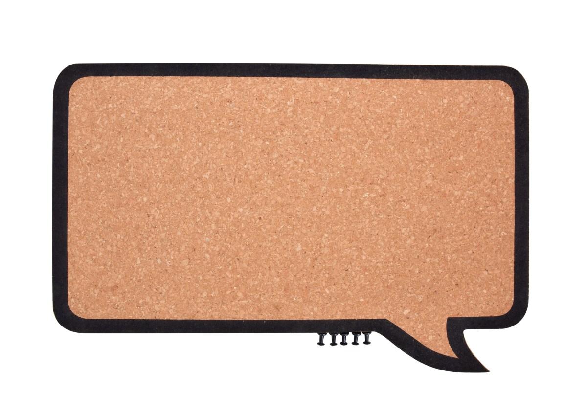 Korkowa tablica z piêcioma pinezkami GoEco(R) 44 x 24,5 cm