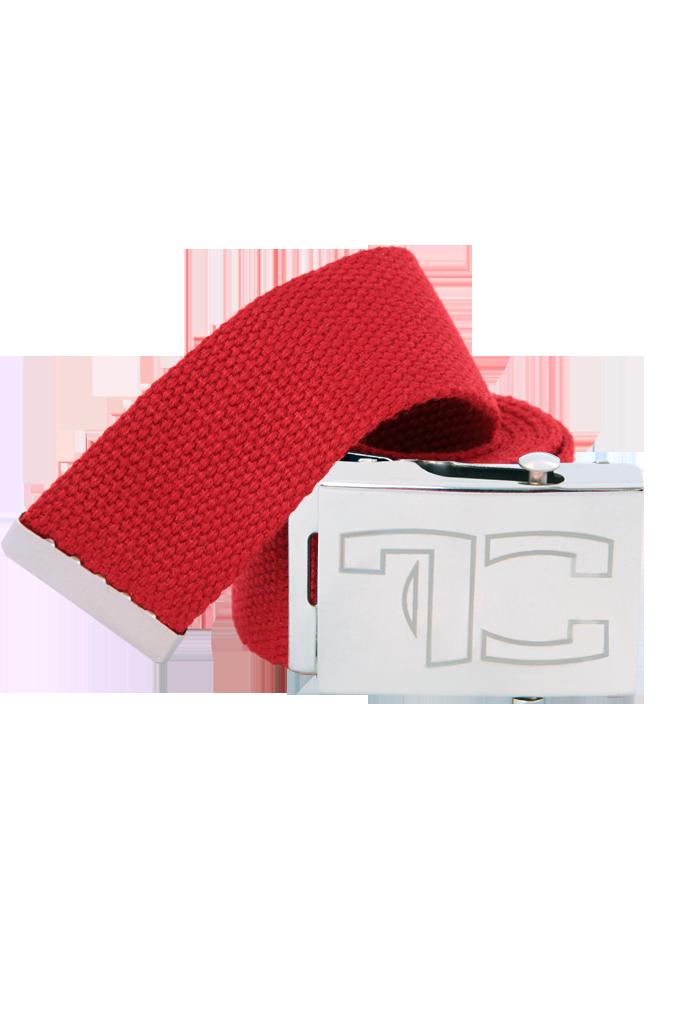 Textilní opasek, UNISEX, červený