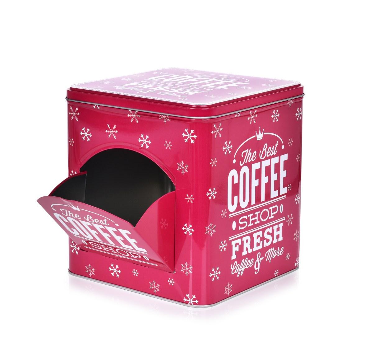 Kovová dóza QUALITY COFFEE na kávové kapsle