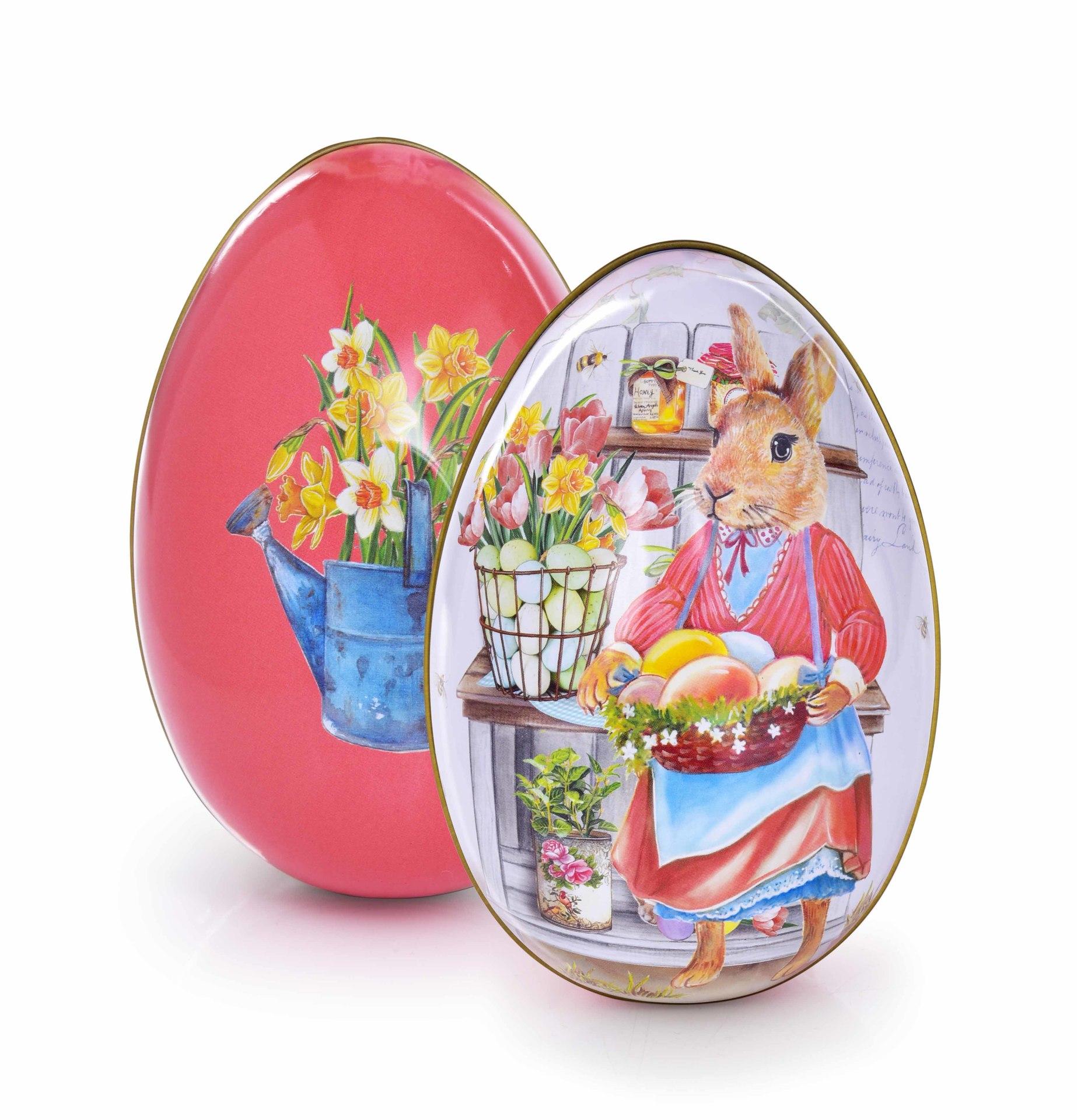 12 cm velké vejce na překvapení pro koledníky, kovové, lososové