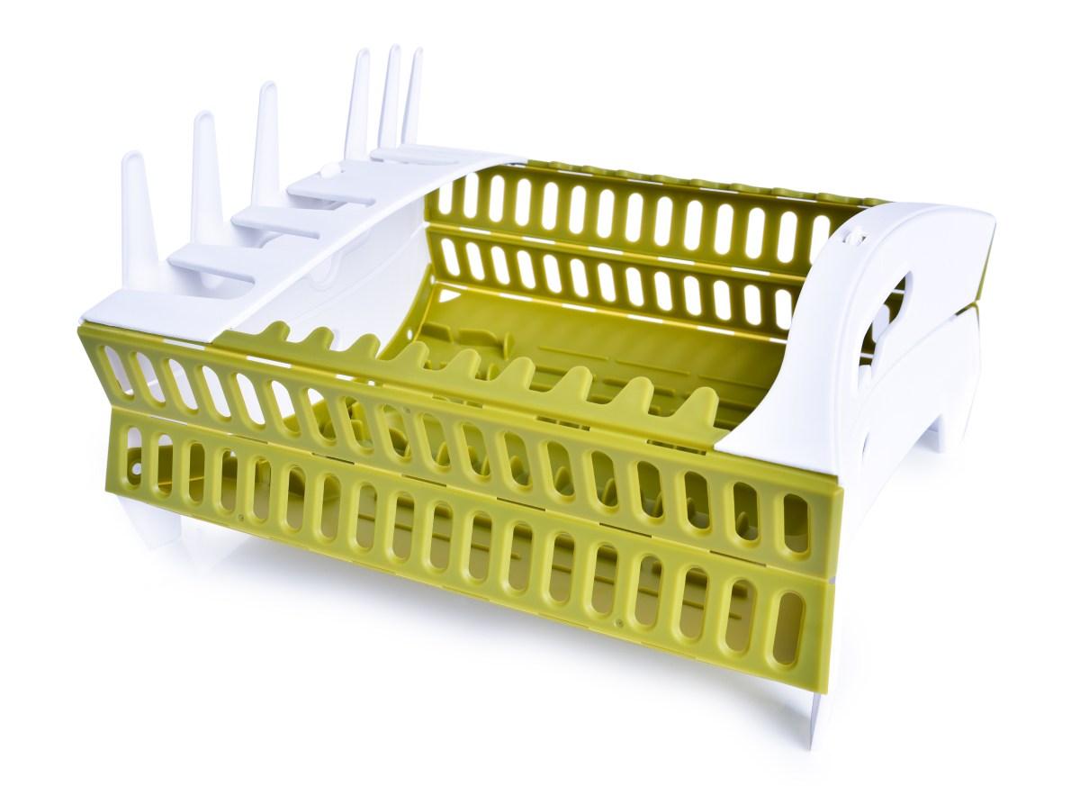 Skládací odkapávač na nádobí, z odolného plastu