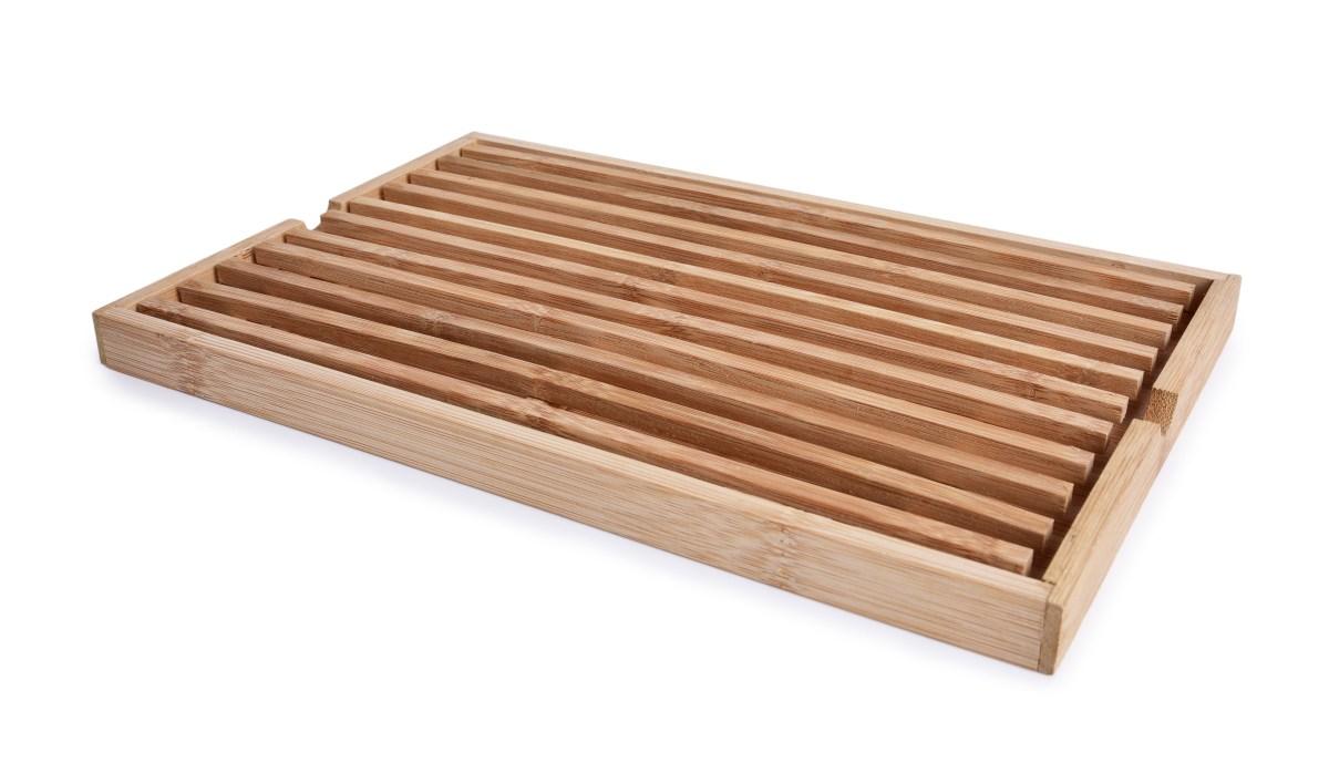 BAMBUSOWA DESKA DO KROJENIA pieczywa GoEco(R) 33 x 22 cm