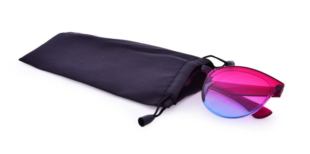 Duhové sluneční brýle, 100% UV ochrana, fuchsiovo modré, UV400