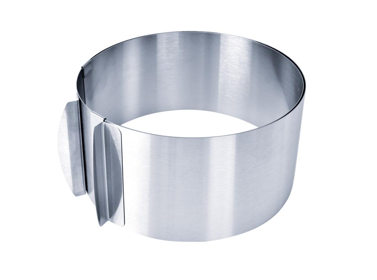 Nastaviteľná guľatá forma L z nerezovej ocele