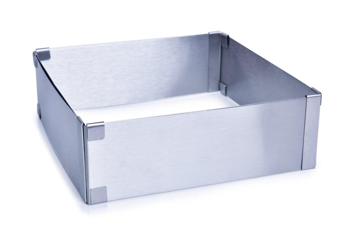 Nastaviteľná štvorcová forma L na pečenie z nerezovej ocele