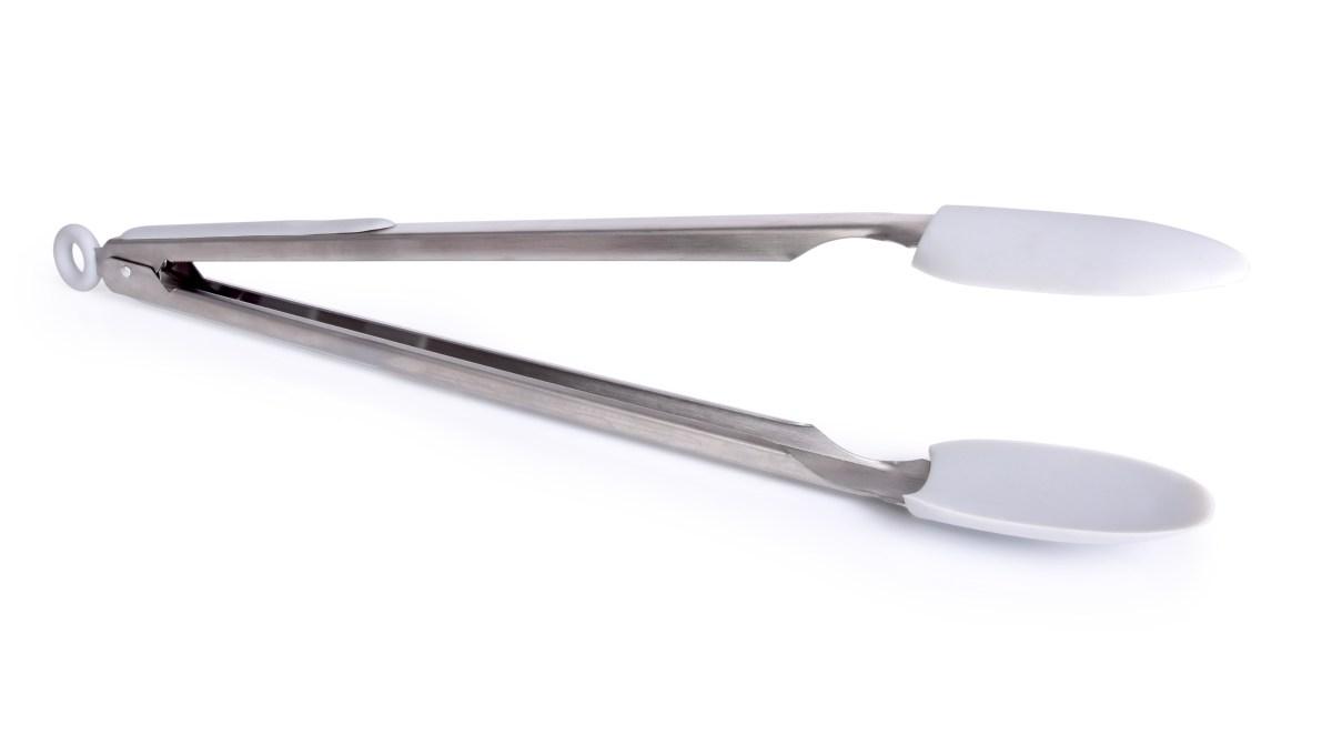 38 cm dlouhé nerezové kleště se silikonem
